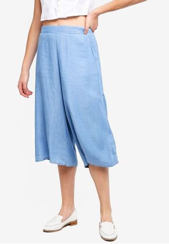 Cotton On white Mid Rise Drapey Culottes 12A0EAA6D8B7D1GS_1