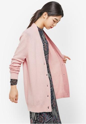 仿羊esprit cn毛直排鈕長袖外套, 服飾, 外套