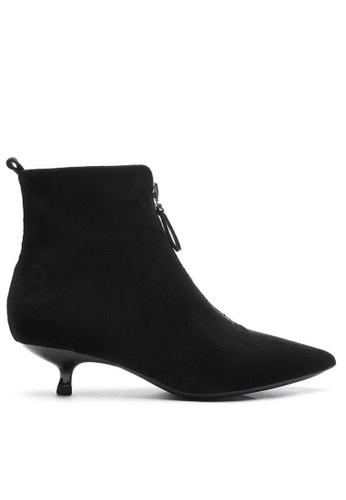 Twenty Eight Shoes 黑色 猄布踝靴1592-5 10637SH7CE2E28GS_1