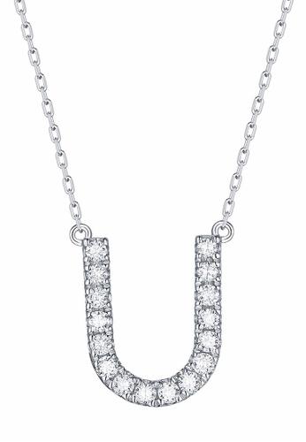 Smiling Rocks 白色 10K白金0.24克拉實驗室培植鑽石訂製系列項鍊 DAD99ACF4C11EAGS_1