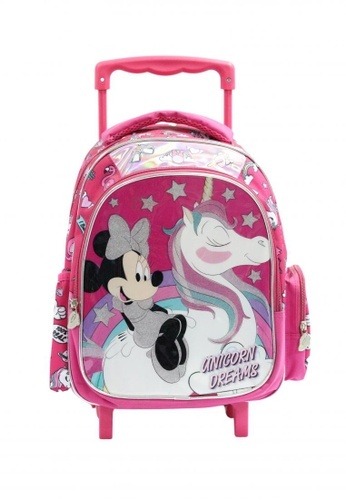 Disney pink Minnie Mouse Trolley Backpack F2EA5KCAD1F922GS_1