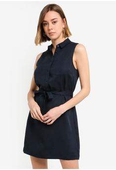 16e89923 Jack Wills navy Ruckhall Sleeveless Shirt Dress E8A9CAAF85E127GS_1