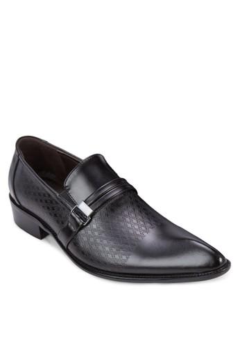 提花扣環尖頭紳esprit tw士皮鞋, 鞋, 鞋