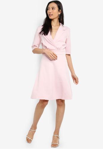 10439837b7a5a Shop ZALORA Blazer Collar Dress Online on ZALORA Philippines