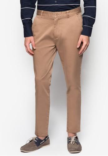 彈性貼身斜布長褲, 服飾,esprit地址 服飾