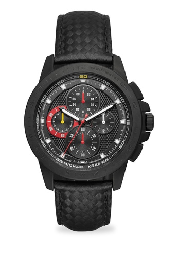 MICHAEL KORS black Ryker Chronograph Watch MI248AC0K955PH_1