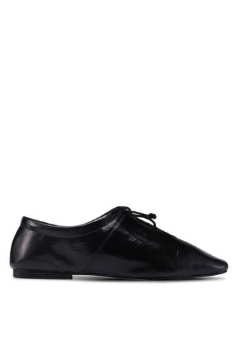 Mango black Slit Leather Shoes 1476ASH6F373CDGS_1