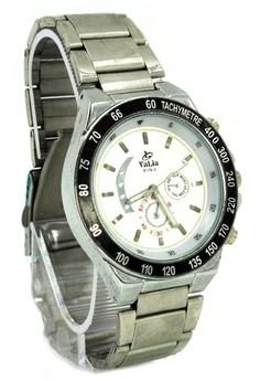 Valia Evan Unisex White Stainless Steel Strap Watch 8179-2