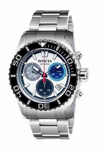 Invicta silver Invicta Pro Diver Men 48mm Case Silver Stainless Steel Strap Silver Dial Quartz Watch 18937 w/ Cap IN968AC0FLX3SG_1