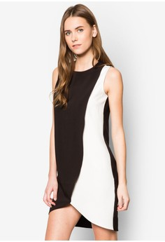 Collection Spliced Colour Blocked Dress