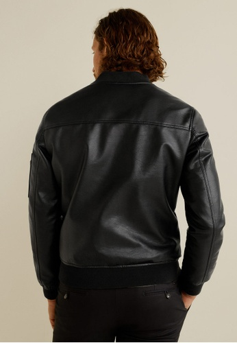 undefeated x fine craftsmanship new high quality Faux-Leather Bomber Jacket