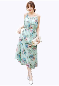 Earthly Florals Maxi Dress