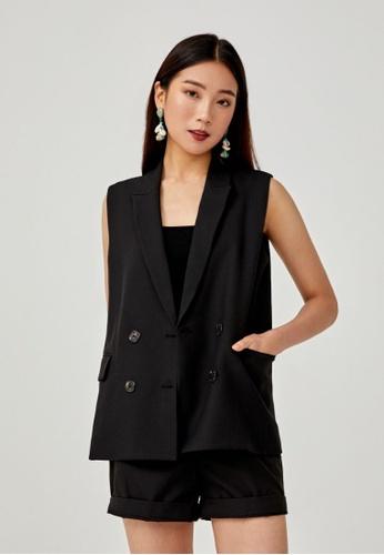 Love, Bonito black Ezrah Tailored Vest 8FE3FAA9CAB122GS_1