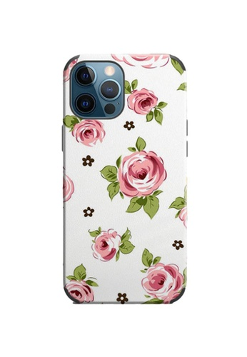Kings Collection white Floral Pattern iPhone 12 Pro / 12 Case (KCMCL2408) 5B62AACC0CAD74GS_1