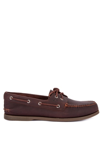 Sperry brown Authentic Original 2-Eye Pull Up Boat Shoes F4E8DSH858DECCGS_1