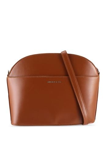 Milliot & Co. brown Faith Sling Bag 67B66AC5CC073AGS_1