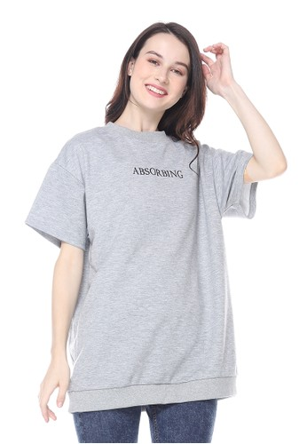 Aromore grey Viany Oversized Shirt 0A190AABF99B37GS_1