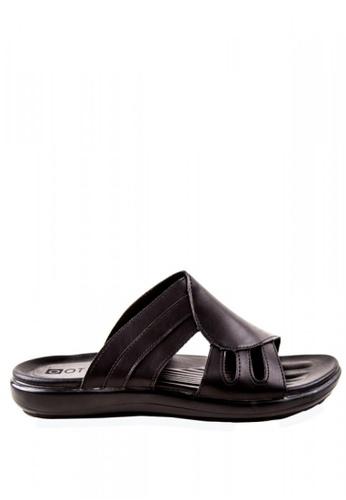 Otto black Slide Sandals OT407SH0JZ7DPH_1
