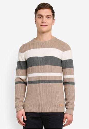 ESPRIT 米褐色 Long Sleeve Cardigan ES374AA0SJ6YMY_1