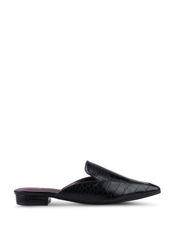 Nose black Mock Croco Low Heel Mules 15A35SH23AF7CAGS_1