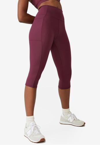 Cotton On Body pink Rib Pocket Capris 60324AA27E2BD6GS_1