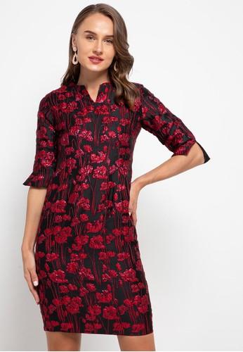 Cardinal red Basic Dress 85234AAB221EC1GS_1