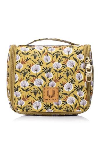 ULA ULA yellow ULA ULA Hannah Donna Toiletry Bag with Metal Hanging Hook B1C26AC894DE24GS_1