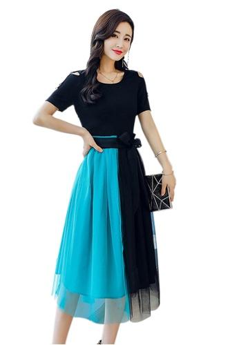 Sunnydaysweety multi New Blue Leisure One Piece Dress A060403-0BL 43456AA26EEA1FGS_1
