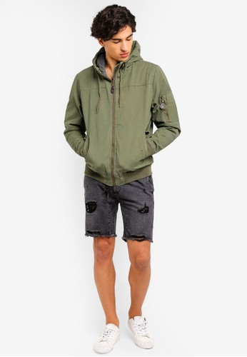 Cotton On green Ma Hooded Bomber Jacket FFD4AAADF252CDGS_1