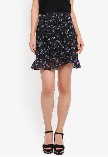ZALORA black Ruffle Skirt 186E3AA85DDE8CGS_1