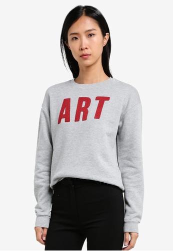 Mango grey Message Cotton Sweatshirt MA193AA0S9MTMY_1