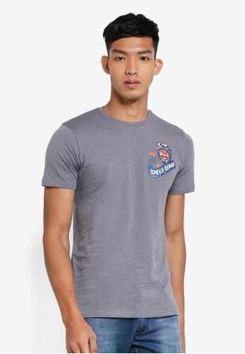 OVS 灰色 圖案印花T恤 DFFE9AA045EE9CGS_1