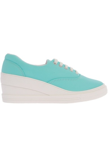 Maxstar Maxstar 7H 5 Holes Synthetic Leather Lace Up Sneakers MA164SH43CIMSG_1