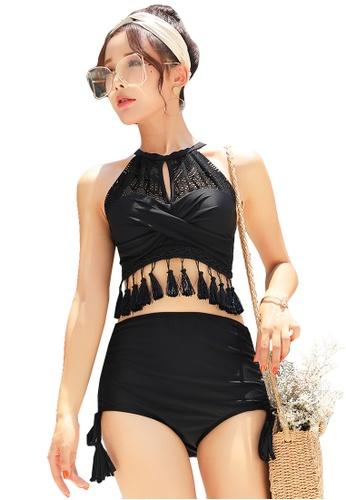YG Fitness black (3PCS) Sexy Fringed Bikini Set 12C4EUS9A8F236GS_1