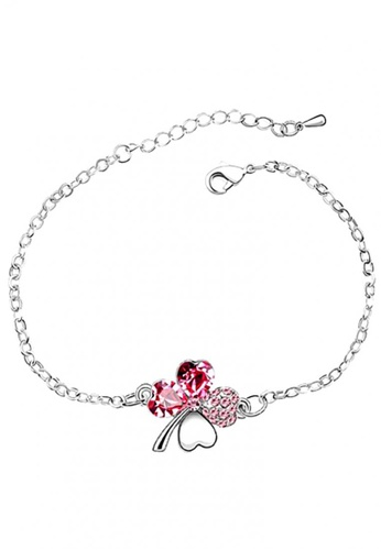 LOVENGIFTS pink LOVENGIFTS Lucky Bracelet (Pink) LO429AC54UWJMY_1