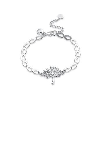 Glamorousky silver Fashion Simply Tree Of Life Bracelet 9523FACFE1744AGS_1