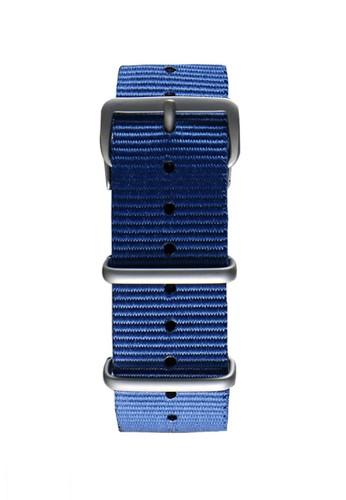 NATO霧面銀海藍色錶帶, 錶類, 其它esprit tw錶帶