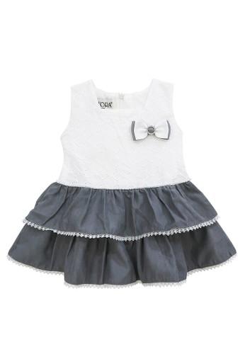 FIYORA grey Diana Cotton Baby Girl Dress 24CB3KA76A33FCGS_1
