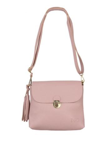 DNJ pink Mini Leather Plain Bag DN487AC0JF6WPH_1