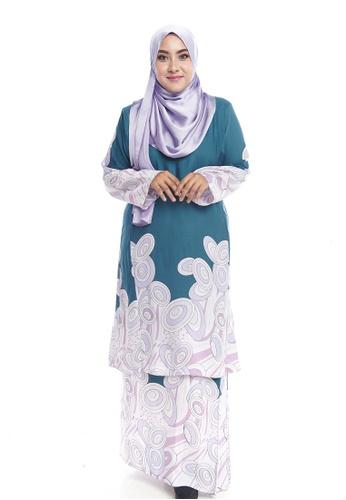 4c42cdb3de2 Nayli white and green and multi Nayli Plus Size Kurung Pesak Buluh  BDD11AAD1068B4GS 1