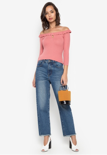 Shop Twenteen Cristie Ruffled Off-Shoulder Neckline Long Sleeves Top ... c0e54bc2540