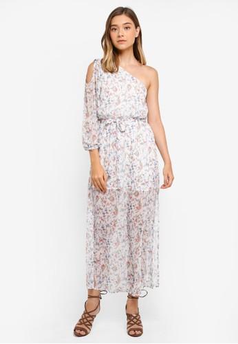 Preen & Proper white Toga Sheer Maxi Dress 61D1AAA3EEFCA7GS_1