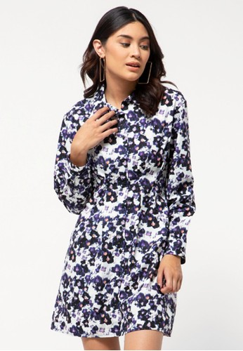 COLORBOX black Fitted Shirt Dress 28D7CAAC62D91EGS_1