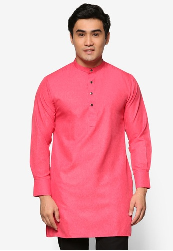 Murzaman red and pink Kurta Salam MU501AA56DJNMY_1
