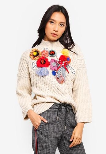 ESPRIT beige Long Sleeve Sweater 97CFDAA3E09106GS_1