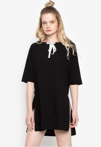 Susto The Label black Avery Hood Dress 338A5AA5299286GS_1
