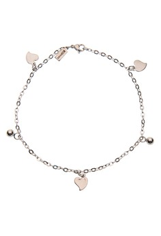 Hollow Heart and Balls Anklet