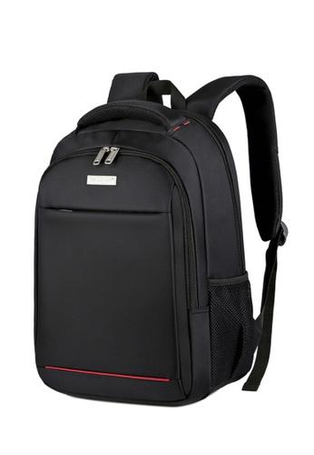 Lara 黑色 男士防水透氣耐磨防震商務筆記本電腦尼龍背包 - 黑色 4E890ACF4A0BCDGS_1