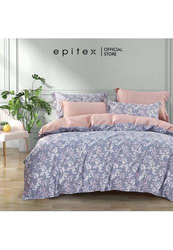Epitex Epitex Hybrid Botanic Silk 1000TC Printed Bedsheet - Bedset - w quilt cover 73675HLCE33362GS_1