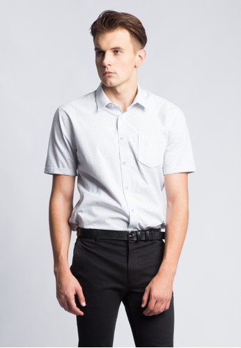 Kent & Crew grey KENT&CREW FORMAL SHORT SLEEVES SHIRT CF7FDAA590C4D0GS_1